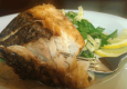 How To Make Crispy Striped Bass with Citrus Glaze & Fennel Parsley Salad