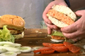 Grilled Salmon Burgers and Spicy Crab Cakes