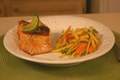 Chef Kern Mattei's Pan Seared Salmon with Carrot and Apple Salad