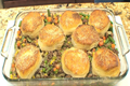 Shepherds Pie Topped With Biscuits - Vegetables - Dinner