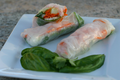 How To Make Shrimp Spring Rolls With Spicy Peanut Sauce
