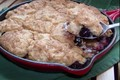 Skillet Apple Blueberry Cobbler
