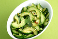Sliced Cucumbers With Sesame Rice Vinaigrette