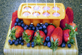 California Giant Strawberry and Blueberry breakfast Berry Smoothie & Popsicles