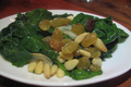 How To Make Spinach with Pine Kernels and Sultanas