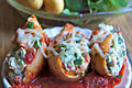 Cheesy Chicken and Spinach Stuffed Shells