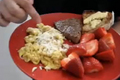 How To Make Seared Steak And Scrambled Eggs Breakfast