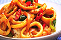 How To Make Stir-fried Spicy Squid With Rice (  )
