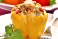 How To Make Quick And Easy Quinoa Stuffed Bell Pepper