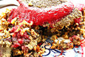Raw Food Recipe Demo- Herbal Stuffing with Pomegranate Cran-Strawberry Sauce Recipe Video