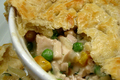 Summer Menu - Rice Paper Spring Roll, Veggie Packed Chicken Pot Pie and Poached Chicken with Mexican Cilantro Sauce