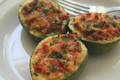 Summer Squash Stuffed WIth Sausage