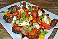 How To Make Summertime Turkey Sausage Salad
