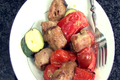 Tailgating Recipe: Sausage and Vegetable Kebabs with Mustard Sauce Recipe Video
