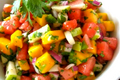 Tangy Mango Salsa Over Halibut 