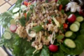 How To Make Thai Chicken Salad With Crispy Rice. Healthy Chicken Salad