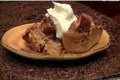 Thanksgiving Roasted Yam Bread Pudding with a Praline Sauce