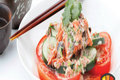 Tojo Sockeye Salmon and Campari Tomato Salad