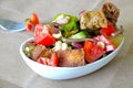 How To Make Veggies Bread Salad