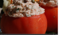 Salmon Mousse Stuffed Tomato