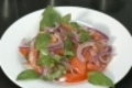 How To Make Tomato, Onion And Basil Salad