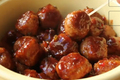 Orange Cranberry Glazed Turkey Cocktail Meatballs