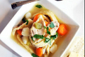 Vegetable-Chicken Soup with Homemade Noodles