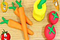 How to Make Playdough Vegetables