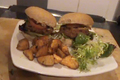 Vegetarian Bean Burgers With Sweet Potato Fries