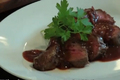 Venison with Plum and Ginger Wine Sauce