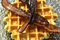 Belgian Waffles With Bacon
