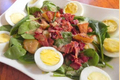 How To Make Warm Spinach Salad with Bacon, Eggs and Rosemary Potatoes
