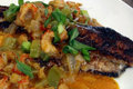 West Meets South - Blacken Catfish with Crawfish Etouffee