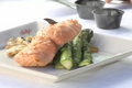 King Salmon with Grilled Vegetable Medley
