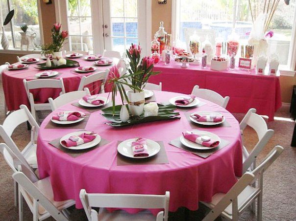 Party table decorations romantic decoration Party table setting decoration