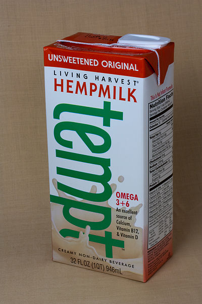 Packaged hemp milk