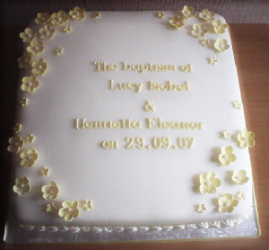 An exquisite Baptism cake