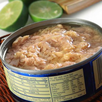 Tuna in vegetable oil tastes better, but is filled with fat and calories
