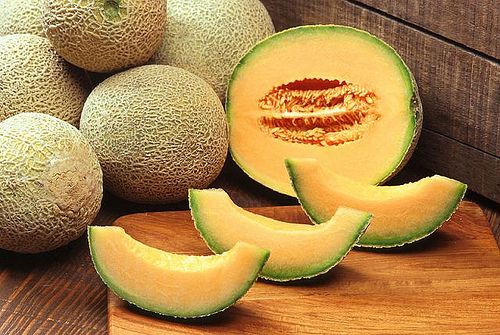 A Couple of Appetizing Cantaloupes - The cut fruits need to be stored immediately.
