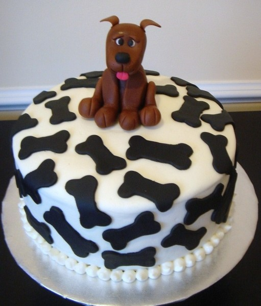 how to make a dog bone cake