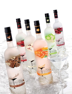 Commercially available flavored vodka
