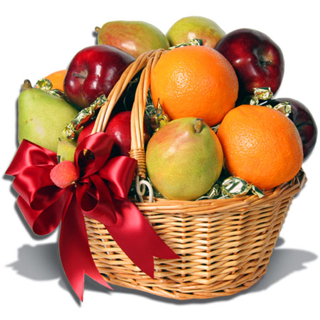 Beautifully decorated fruit basket