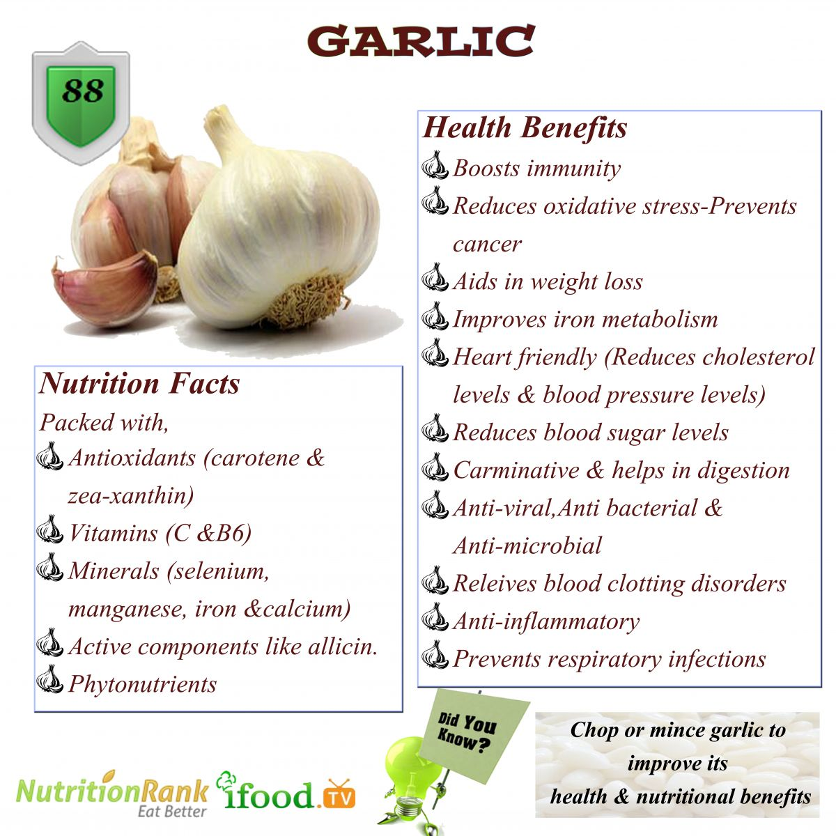 The Many Benefits Of Garlic