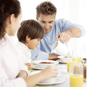 Kids learn to develop eating habits from parents