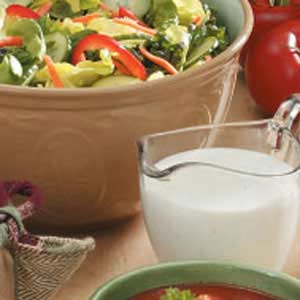 Buttermilk tastes wonderful when you drink it with salad.