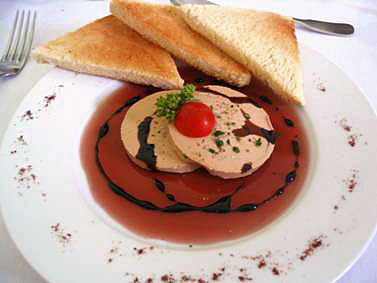 Foie gras in a French restuarant - ready to be eaten