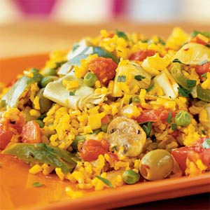 Paella is a very popular Spanish rice dish 