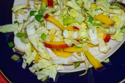 Tunip slaw with shredded turnips makes a healthy meal.