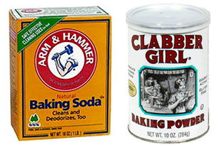 Baking soda and baking powder normally have similar functions as both are used as raising agents