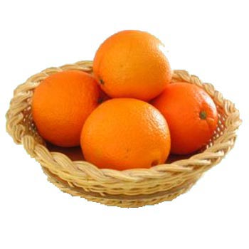 Storing oranges in baskets so that they remain fresh for several weeks.
